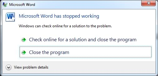 Word Not Working
